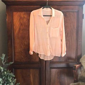 Small Bella Dahl Button Up Shirt Blouse